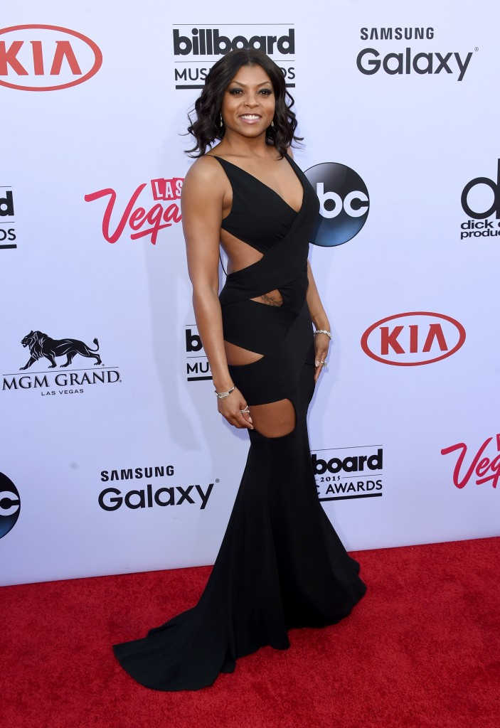 LAS VEGAS, NV - MAY 17:  Actress Taraji P. Henson attends the 2015 Billboard Music Awards at MGM Grand Garden Arena on May 17, 2015 in Las Vegas, Nevada.  (Photo by Jason Merritt/Getty Images)
