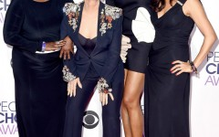 LOS ANGELES, CA - JANUARY 06:  (L-R) TV personalities Sheryl Underwood, Sharon Osbourne, Aisha Tyler and Julie Chen attend the People's Choice Awards 2016 at Microsoft Theater on January 6, 2016 in Los Angeles, California.  (Photo by Steve Granitz/WireImage)