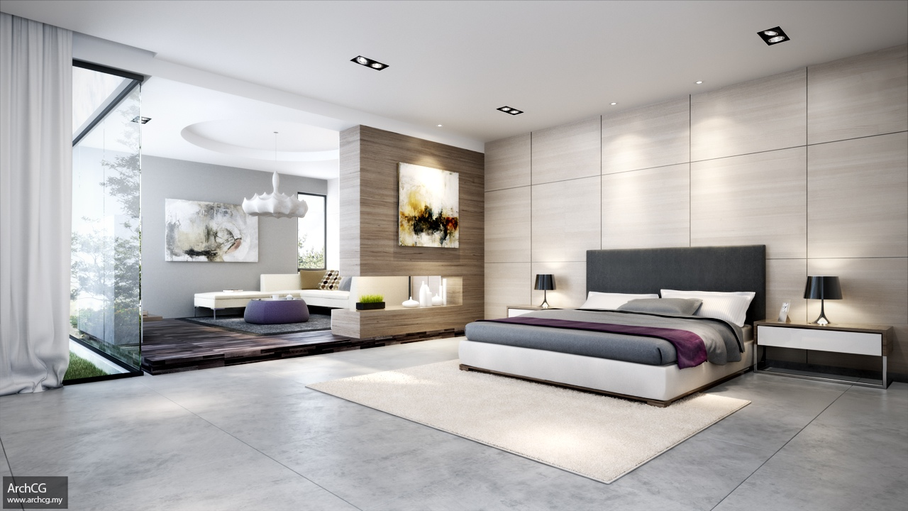 Contemporary bedroom scheme