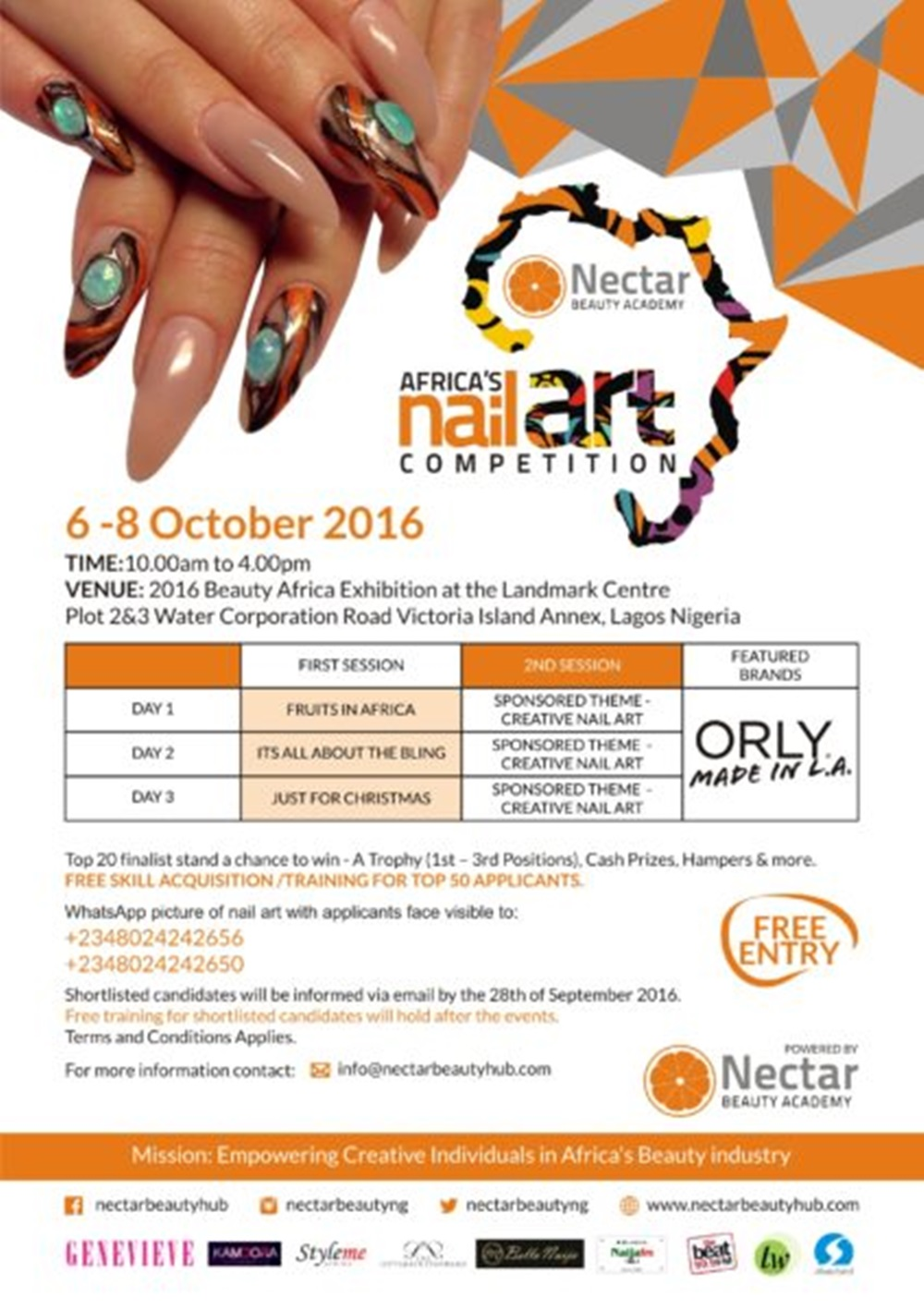Africas Nail Art Competition Returns For Its Second Edition The