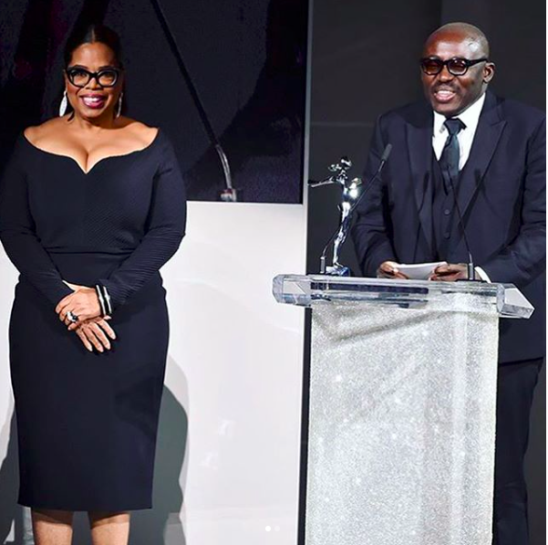 Edward Enninful Thanks Mum While Receiving Media Award At The CFDA