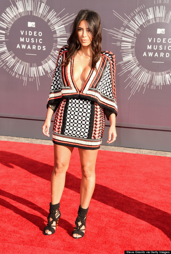 INGLEWOOD, CA - AUGUST 24:  TV personality Kim Kardashian attends the 2014 MTV Video Music Awards at The Forum on August 24, 2014 in Inglewood, California.  (Photo by Steve Granitz/WireImage)