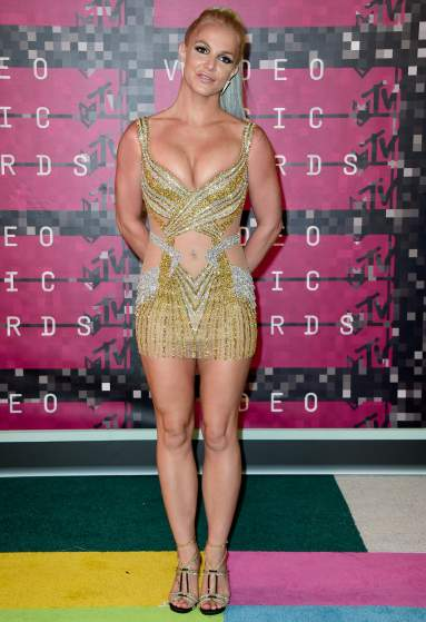 LOS ANGELES, CA - AUGUST 30:  Recording artist Britney Spears attends the 2015 MTV Video Music Awards at Microsoft Theater on August 30, 2015 in Los Angeles, California.  (Photo by Frazer Harrison/Getty Images)