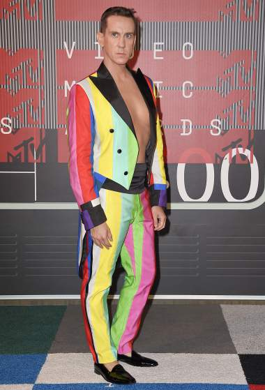 LOS ANGELES, CA - AUGUST 30:  Designer Jeremy Scott attends the 2015 MTV Video Music Awards at Microsoft Theater on August 30, 2015 in Los Angeles, California.  (Photo by Steve Granitz/WireImage)