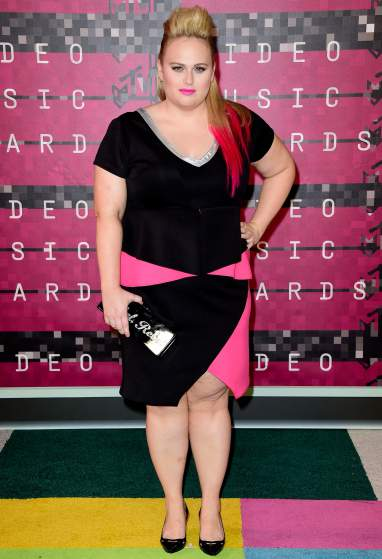 LOS ANGELES, CA - AUGUST 30:  Actress Rebel Wilson attends the 2015 MTV Video Music Awards at Microsoft Theater on August 30, 2015 in Los Angeles, California.  (Photo by Frazer Harrison/Getty Images)
