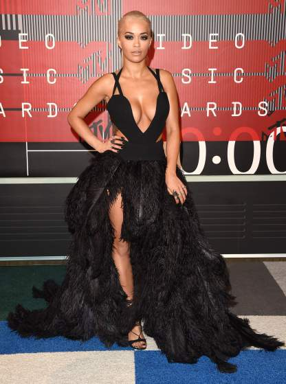 LOS ANGELES, CA - AUGUST 30:  Singer Rita Ora attends the 2015 MTV Video Music Awards at Microsoft Theater on August 30, 2015 in Los Angeles, California.  (Photo by Jason Merritt/Getty Images)