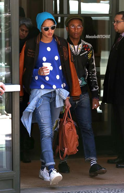 ***MANDATORY BYLINE TO READ INFPhoto.com ONLY***Pharrell Williams and wife Helen Lasichanh out and about in New York City.Pictured: Pharrell Williams, Helen LasichanhRef: SPL989748 010415 Picture by: Dara Kushner/INFphoto.com