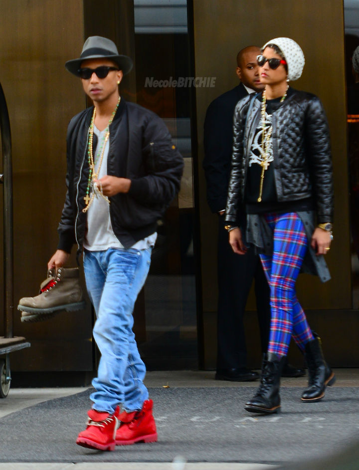Pharrell-williams-and-wife-Helen-leave-New-York-Hotel