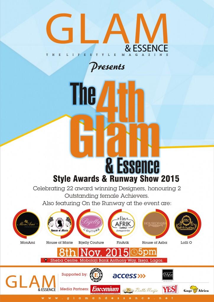 Glam & Essence Style Award 2015 Advert.