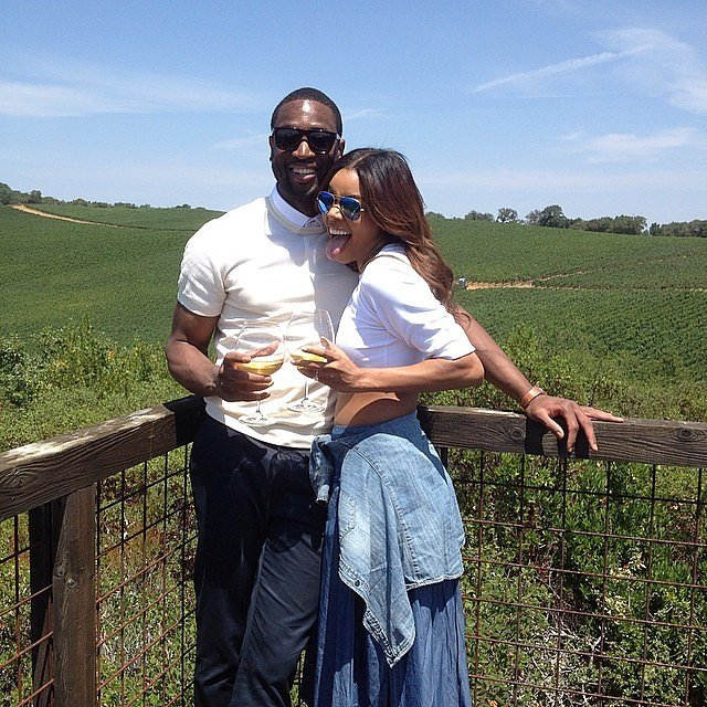 Dwyane-Gabrielle-did-some-wine-tasting-together-August-2014