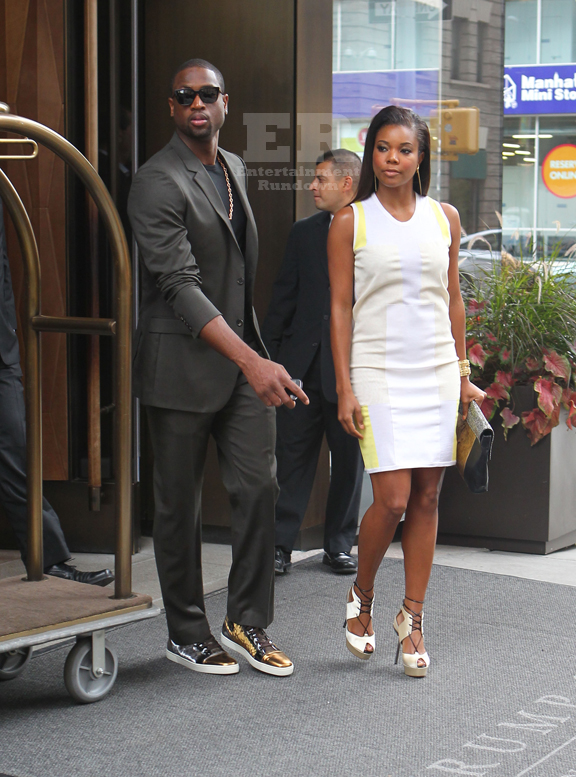 September 06, 2012: Dwayne Wade and Gabrielle Union arrive back to their hotel, separately, in New York City today. The couple then headed out for the evening. Mandatory Credit: JT/INFphoto.com Ref: infusny-167|sp|