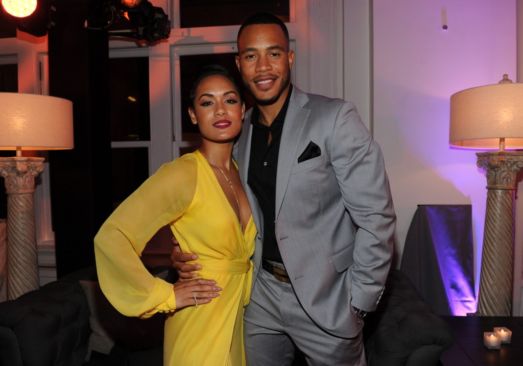 EMPIRE:  EMPIRE Cast members Grace Gealey and Trai Byers celebrate at the EMPIRE Season Two season premiere event at Carnegie Hall on Saturday, Sept. 12 in New York, NY. Season Two premieres Wednesday, Sept. 23 (9:00-10:00 PM ET/PT) on FOX.  © 2015 FOX BROADCASTING  CR: Frank Micelotta/FOX