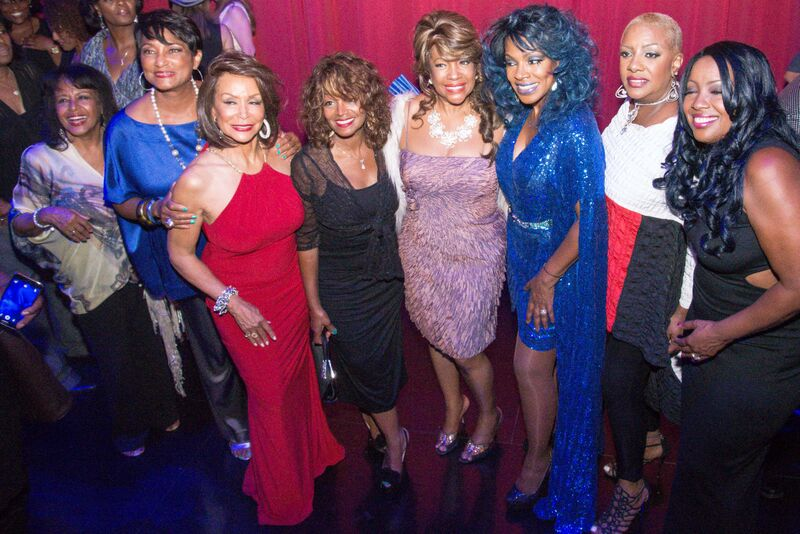 The lady in purple next to Sheryl Lee in Blue is Mary Wilson who was part of the supremes, Alysson williams is in white ,middle(Mary Wilson from the supremes