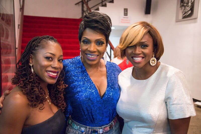 Waje with Sheryl and a guest