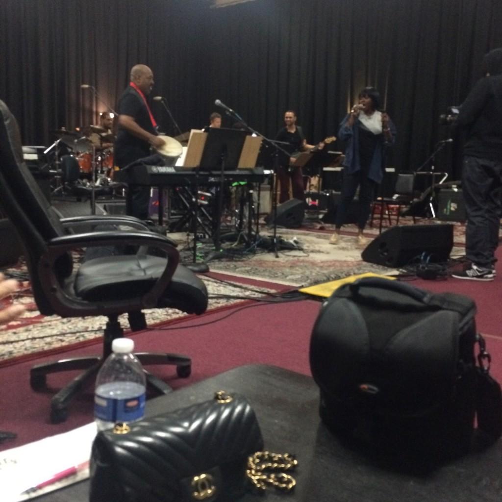 waje at rehearsals