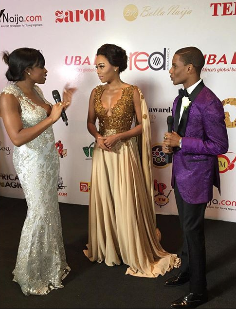 Bonang on the red carpet in GJC