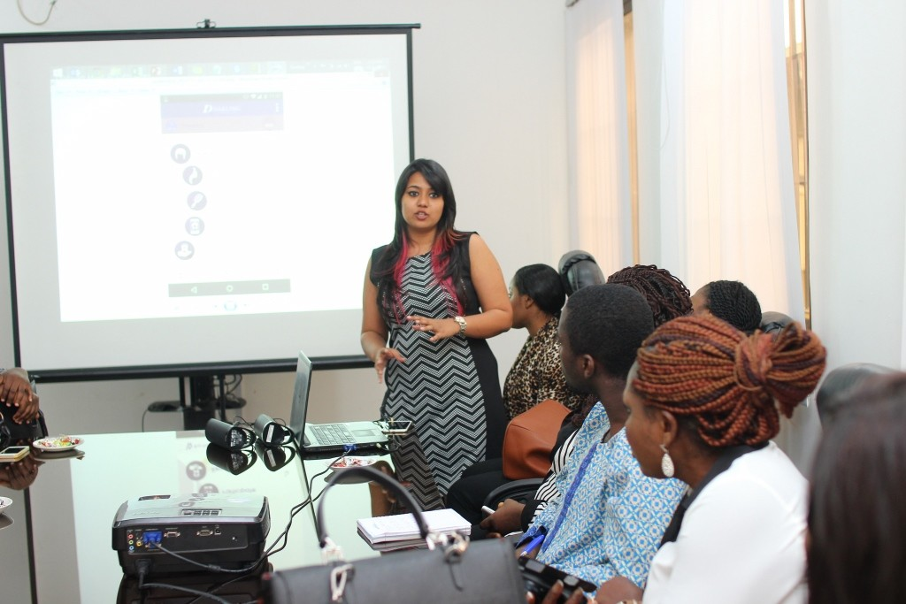 Priyanka Mohanty (Head of Digital     Marketing speaking the the press and bloggers)