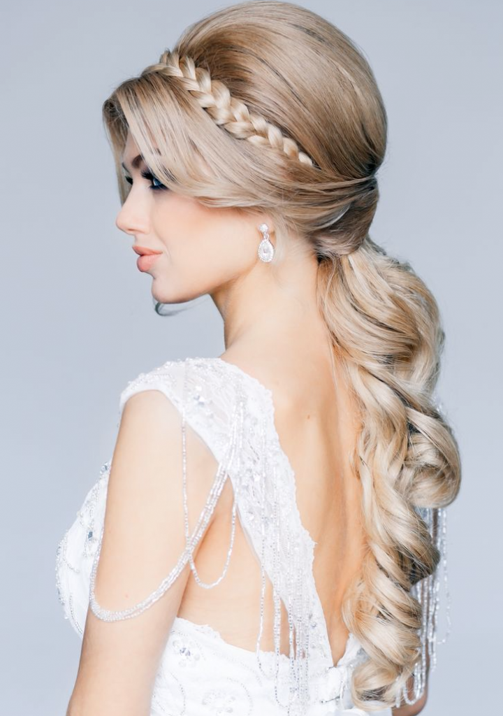 long-blonde-wedding-hairstyle-with-little-braid