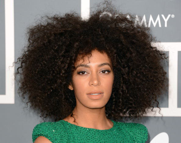 LOS ANGELES, CA - FEBRUARY 10: Singer Solange Knowles arrives at the 55th Annual GRAMMY Awards at Staples Center on February 10, 2013 in Los Angeles, California. (Photo by Jason Merritt/Getty Images)