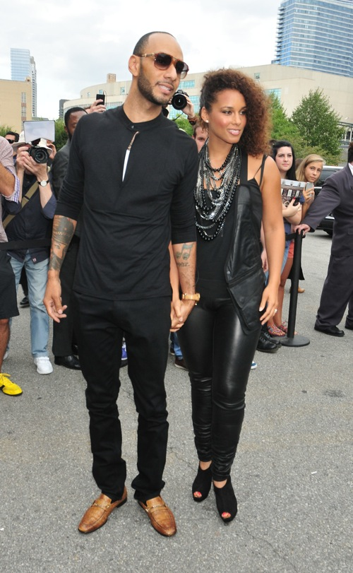 #7863555 Alicia Keys and her husband Swizz Beatz arrived at the Mercedes-Benz Fashion Week at Pier 94 in New York City, New York on September 10, 2011. They attended the Alexander Wang Spring 2012 fashion show. Fame Pictures, Inc - Santa Monica, CA, USA - +1 (310) 395-0500
