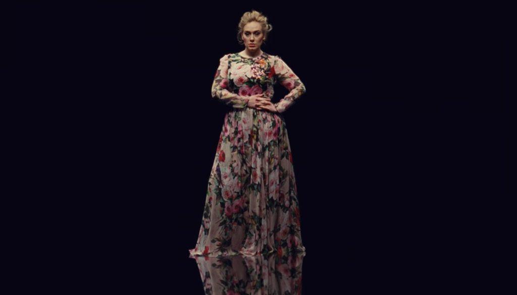 Adele-Dolce-Gabbana-Gown-Send-My-Love-Video