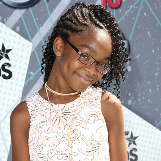 LOS ANGELES, CA - JUNE 26: Actress Marsai Martin attends the Make A Wish VIP Experience at the 2016 BET Awards on June 26, 2016 in Los Angeles, California. (Photo by Leon Bennett/WireImage)
