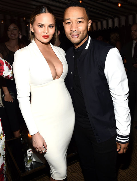 Mandatory Credit: Photo by Buckner/WWD/REX/Shutterstock (5738147an) Christine Teigen and John Legend GQ Celebrates The 10th Annual Love Sex and Madness Issue, Los Angeles, USA - 28 Jun 2016