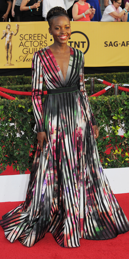 LOS ANGELES, CA - JANUARY 25: Lupita Nyong'o attends the 21st Annual Screen Actors Guild Awards at the Shrine Auditorium on January 25, 2015 in Los Angeles, California. (Photo by Amy Graves/WireImage)