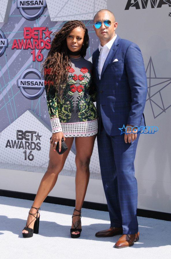 Arrivals for the 2016 BET Awards held at the Microsoft Theater. Pictured: Eva Marcille Ref: SPL1309695 260616 Picture by: AdMedia / Splash News Splash News and Pictures Los Angeles:310-821-2666 New York:212-619-2666 London:870-934-2666 photodesk@splashnews.com