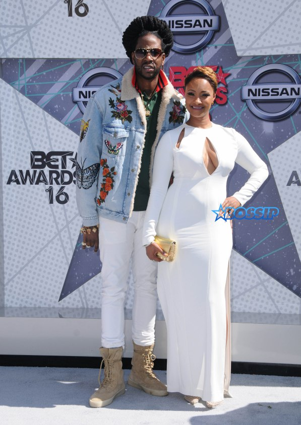 Arrivals for the 2016 BET Awards held at the Microsoft Theater. Pictured: 2 Chainz, Nakesha Ward Ref: SPL1309695 260616 Picture by: AdMedia / Splash News Splash News and Pictures Los Angeles:310-821-2666 New York:212-619-2666 London:870-934-2666 photodesk@splashnews.com