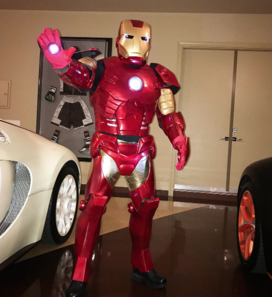 Floyd Mayweather is also a Marvel Character and he chose Iron Man, literally!