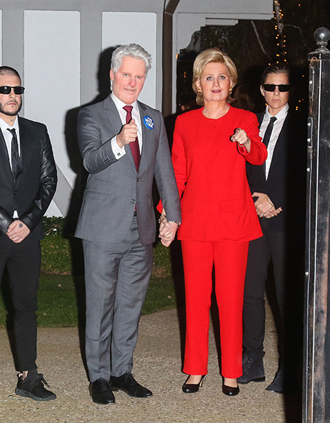 Orlando Bloom and Katy Perry as Bill and Hillary Clinton! Such perfect timing...