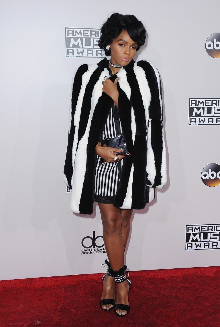 Janelle Monae is pretty in black, white and more black by Marc Jacobs