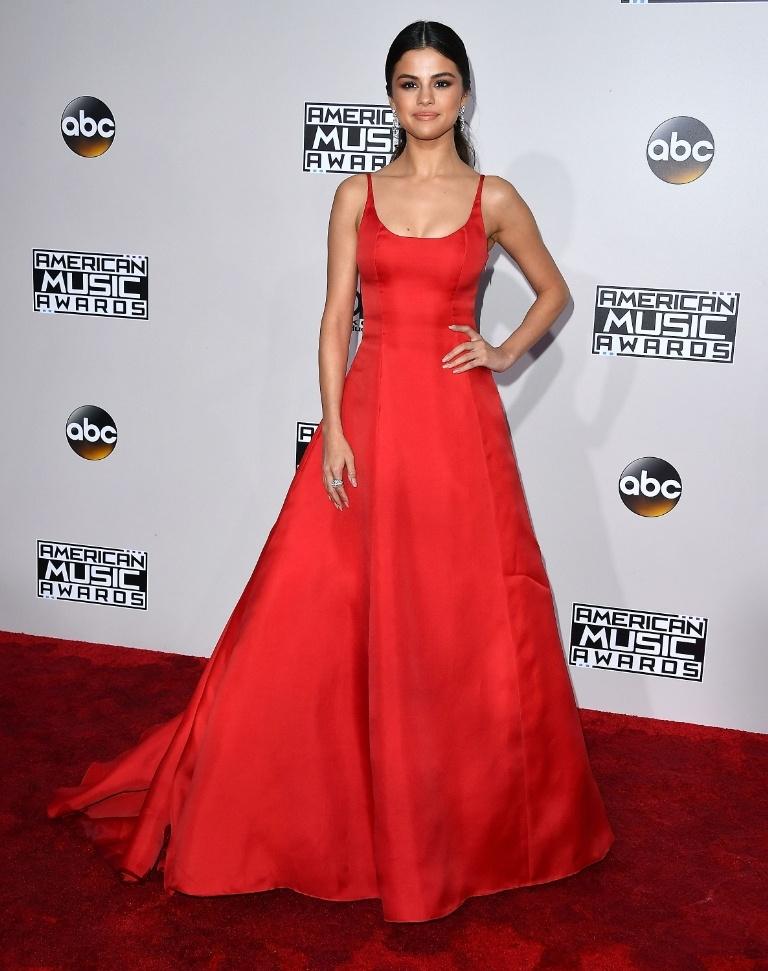 Selena Gomez wears a Prada princess dress