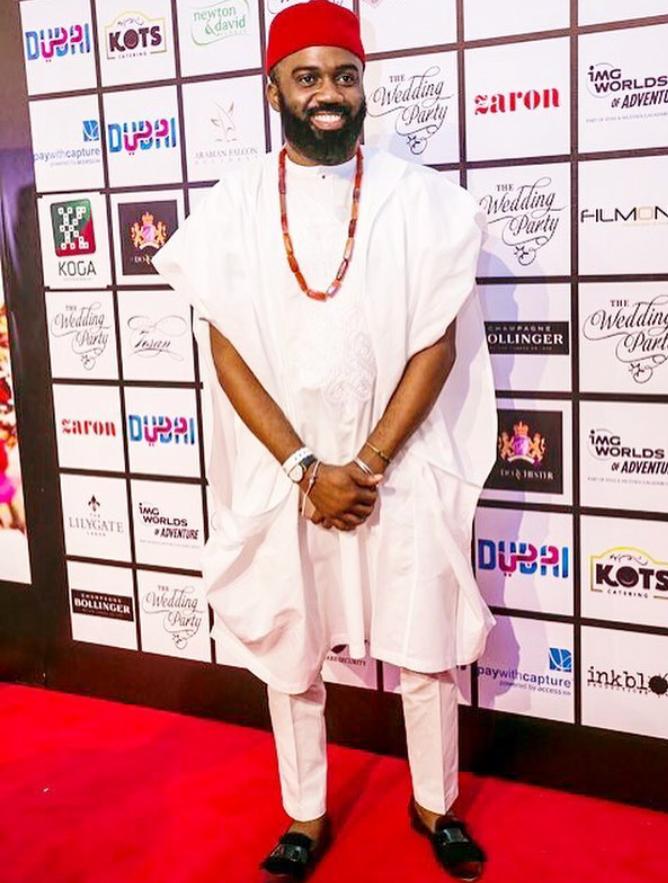 Noble Igwe brings on the Igbo swag in his white agbada